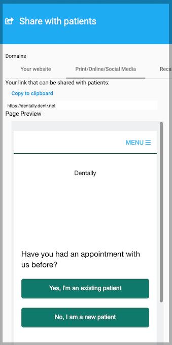 Dentally Patient Portal Social media preview