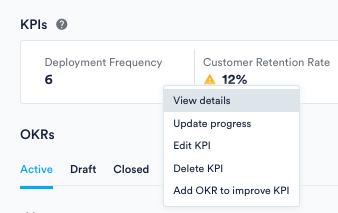 View details in KPI menu