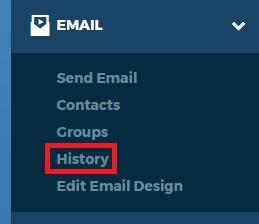 Left Nav Bar Email History