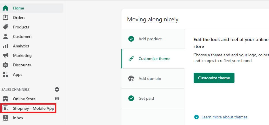 Shopney mobile app , Shopney account credentials