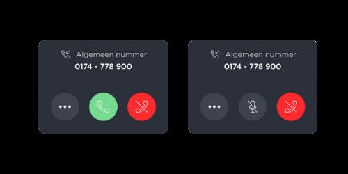 Oproepen beantwoorden webphone - pop-up