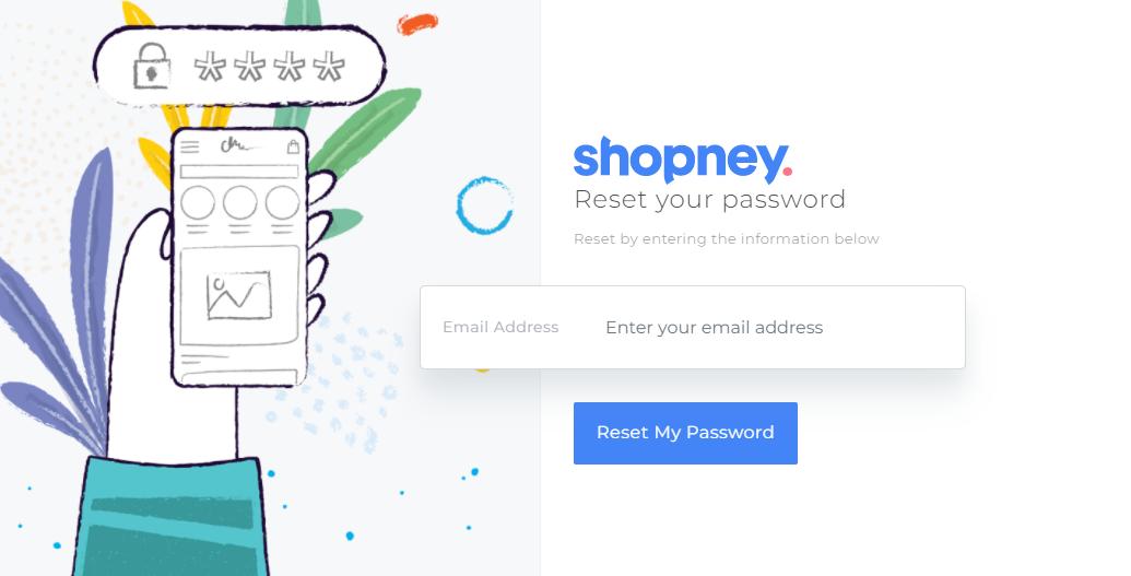 Shopney , reset my password Shopney , forgor password , Shopify app store