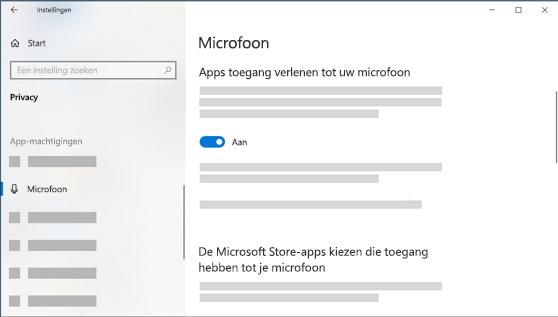Microfoon instellingen Windows