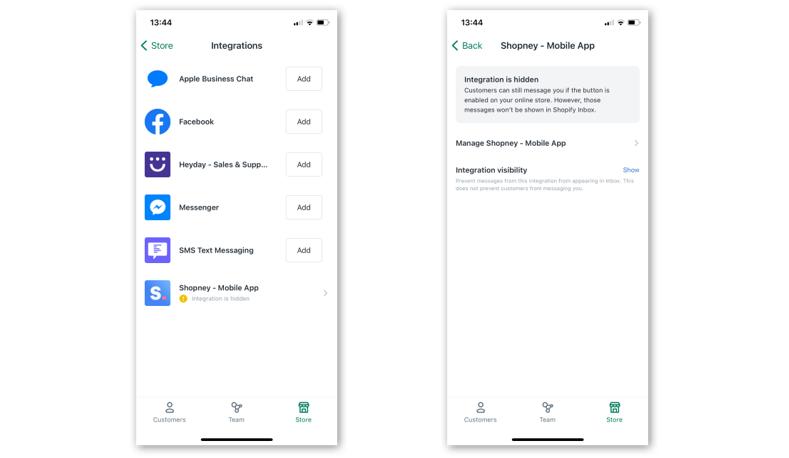 Shopify Inbox , Shopify , Shopney , In app chat, Shopney mobile app, Shopify chat