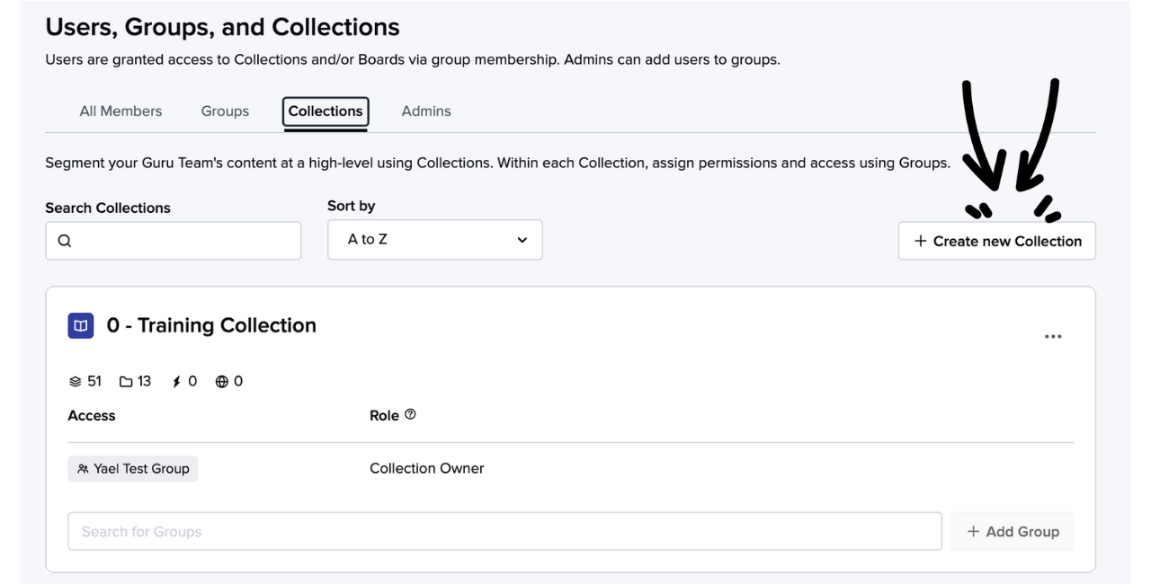 Creating a Collection in Guru