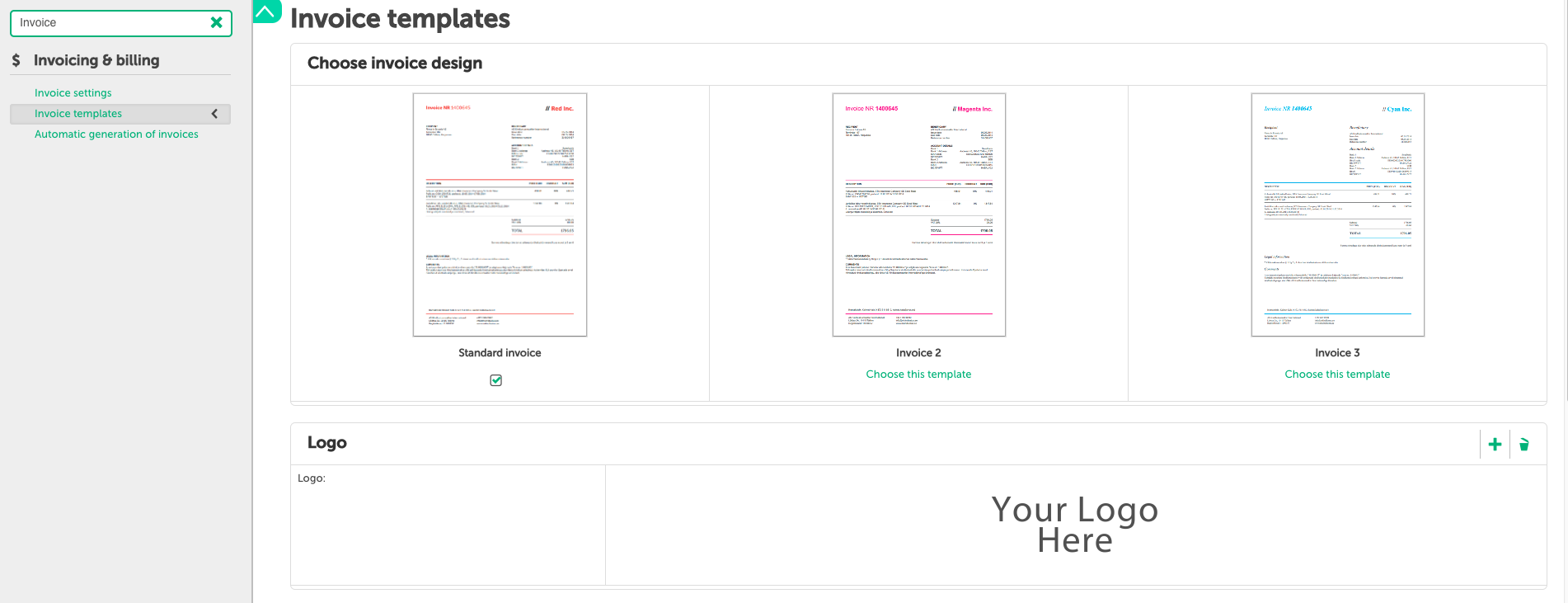changing invoice templates insly help center