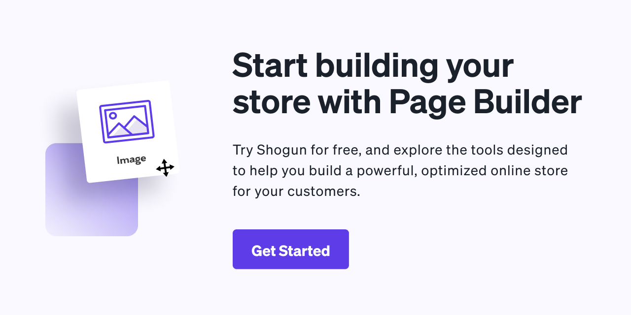 Start building your store with Page Builder
