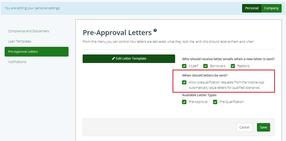 Pre Approval Letter Permission Settings | Pre Approve Me Help Center