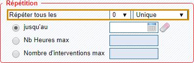 logiciel planning - définir la fréquence des interventions