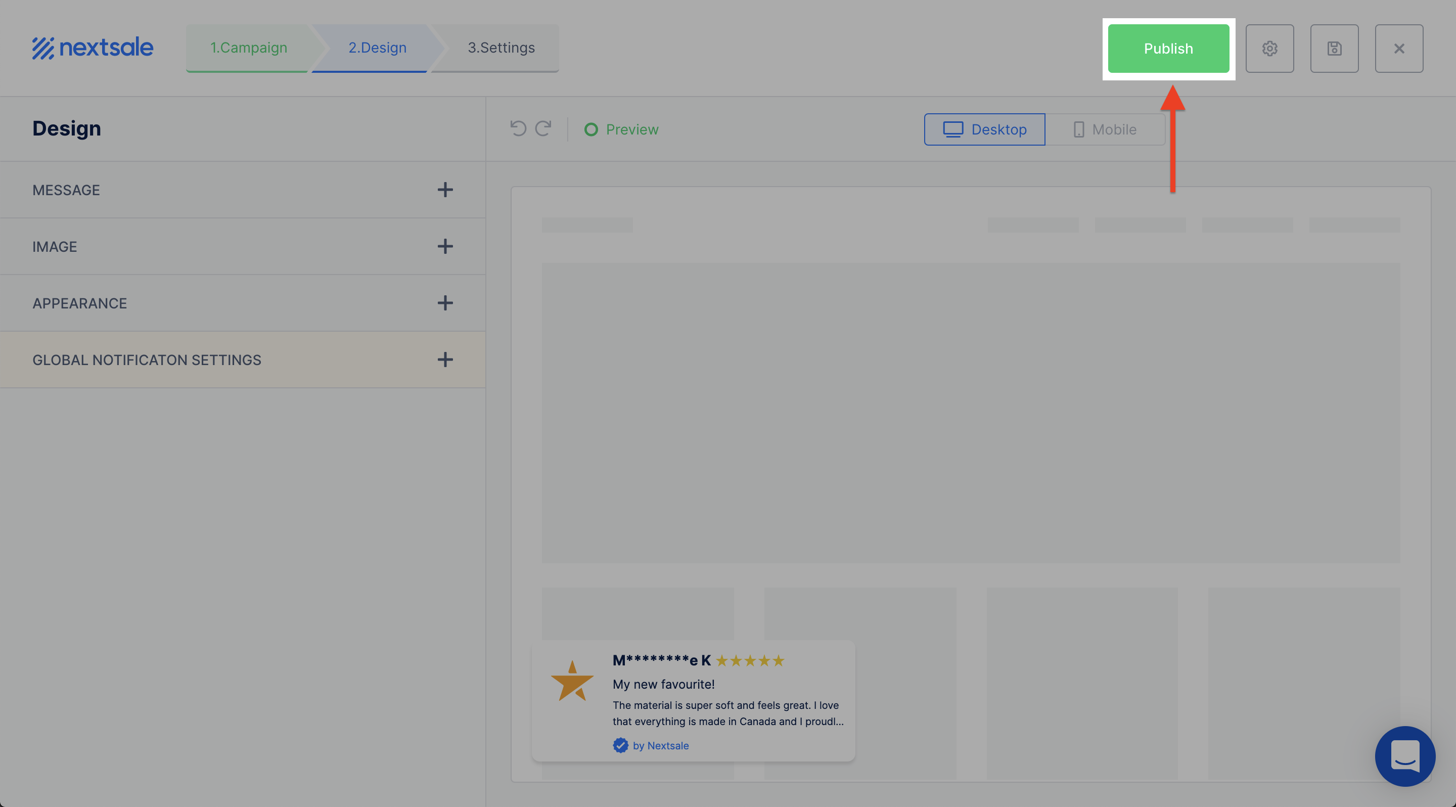 display Stamped.io reviews in notifications