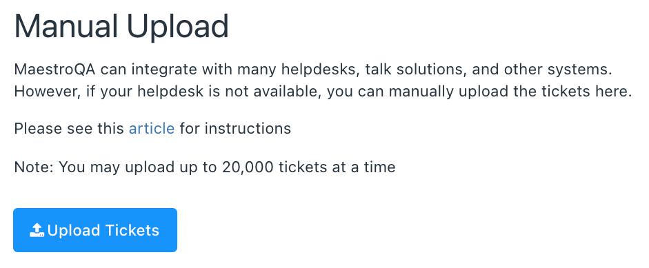 manual upload tickets