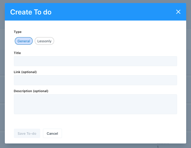Create To Do or Action Item