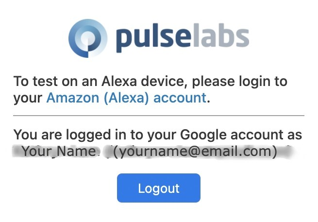 Pulse Labs extension displaying panelist name and email.