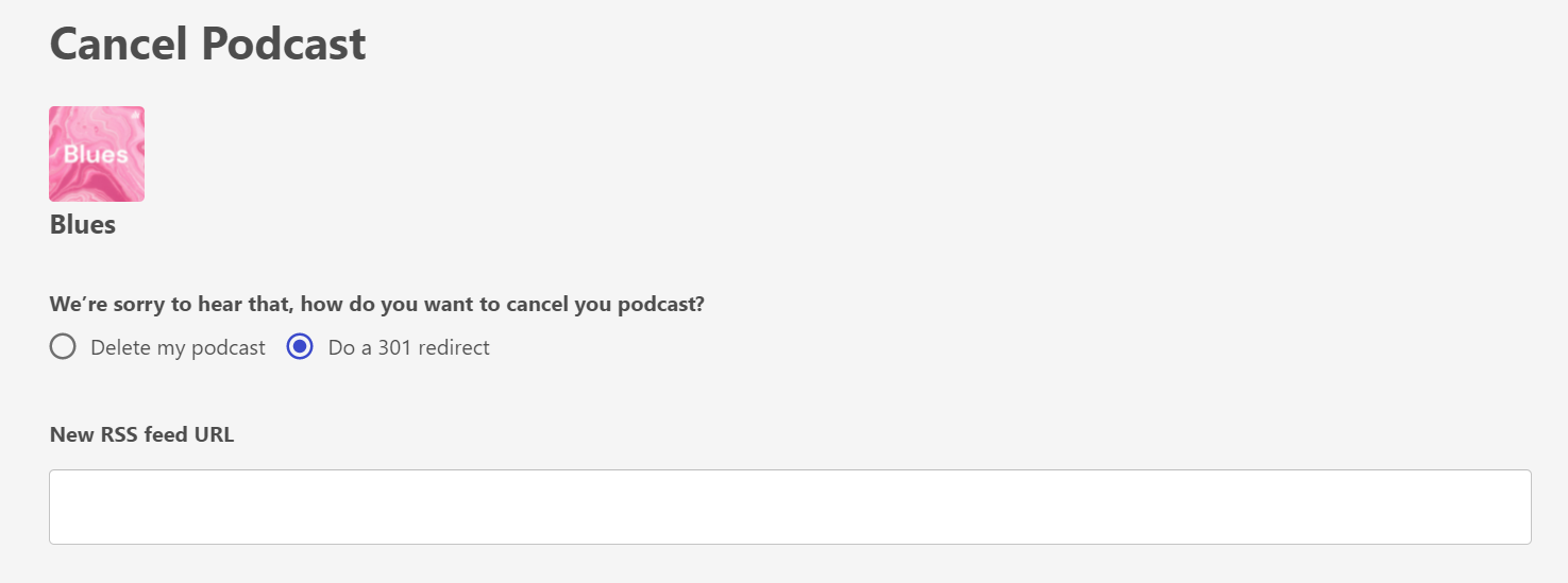 redirect podcast out of Firstory