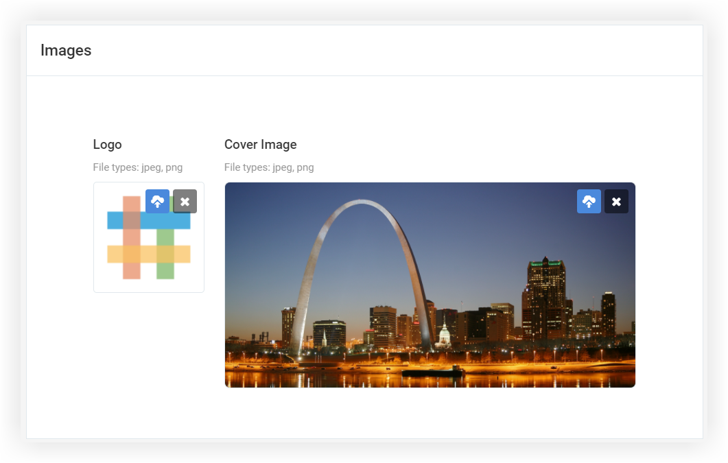 Screenshot of the Images section of the Appearance page.