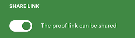 Manage pane setting for share link