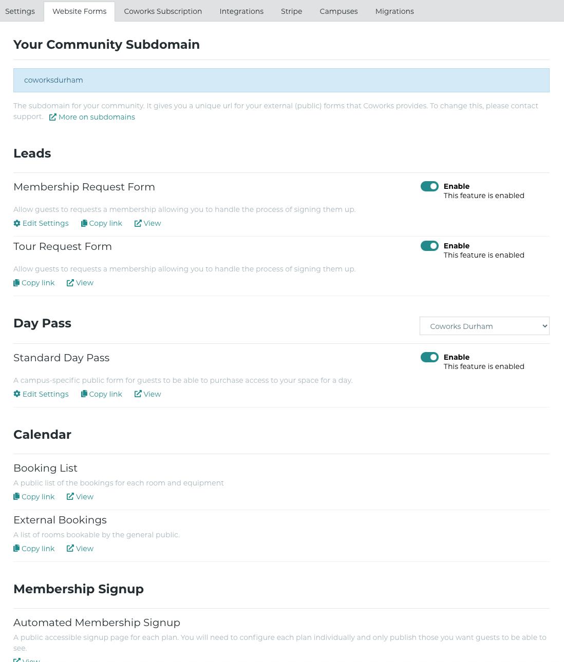 Website Forms