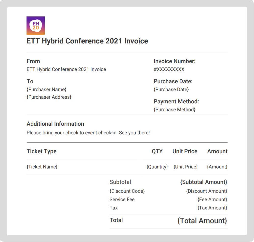 Screenshot of an invoice.