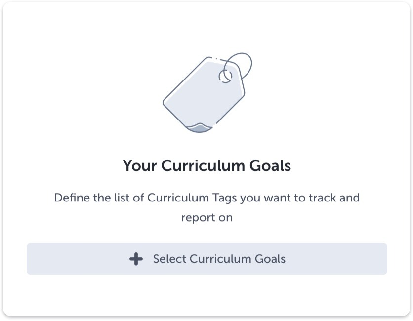Select your Curriculum Tags button