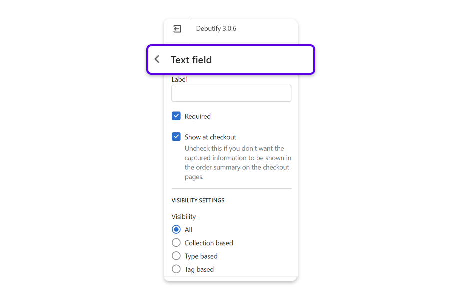 Text Field - Allow customers to type their own responses.