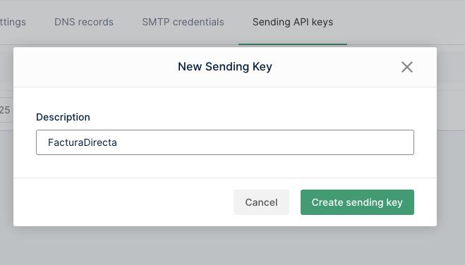 Dar nun nombre a la clave de la API