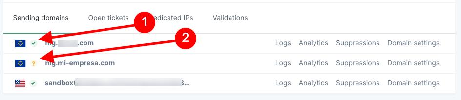 Comprobación de la verificación del dominio