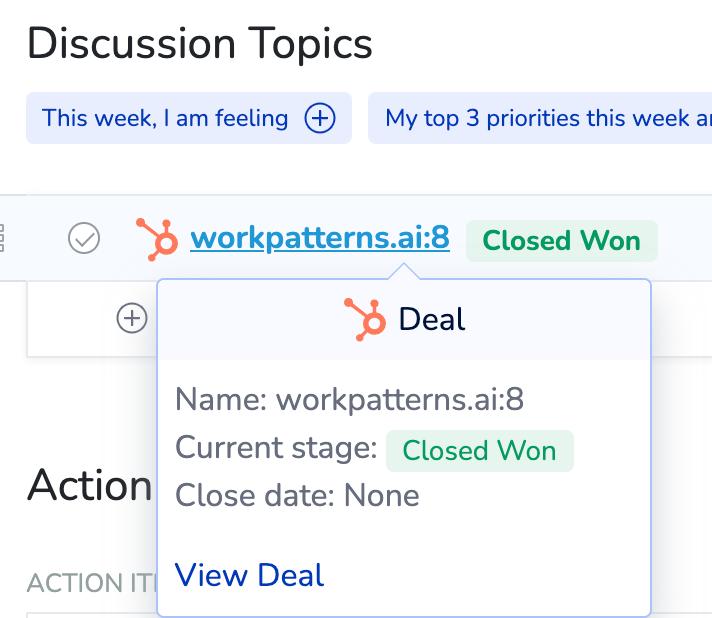 HubSpot integration for WorkPatterns smartlink dynamic display