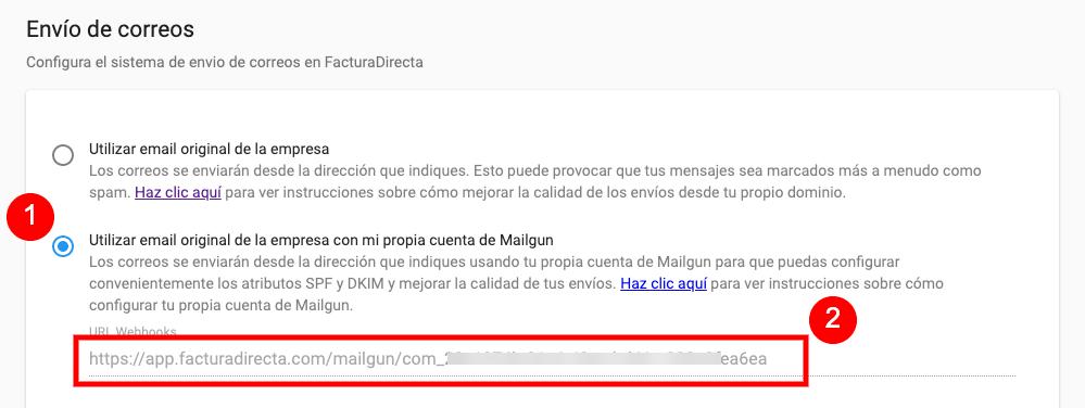 Obtención de la URL para los Webhooks de Mailgun