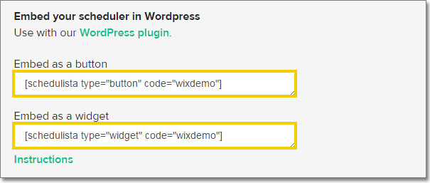 Using The Schedulista Wordpress Plugin Schedulista Help Center
