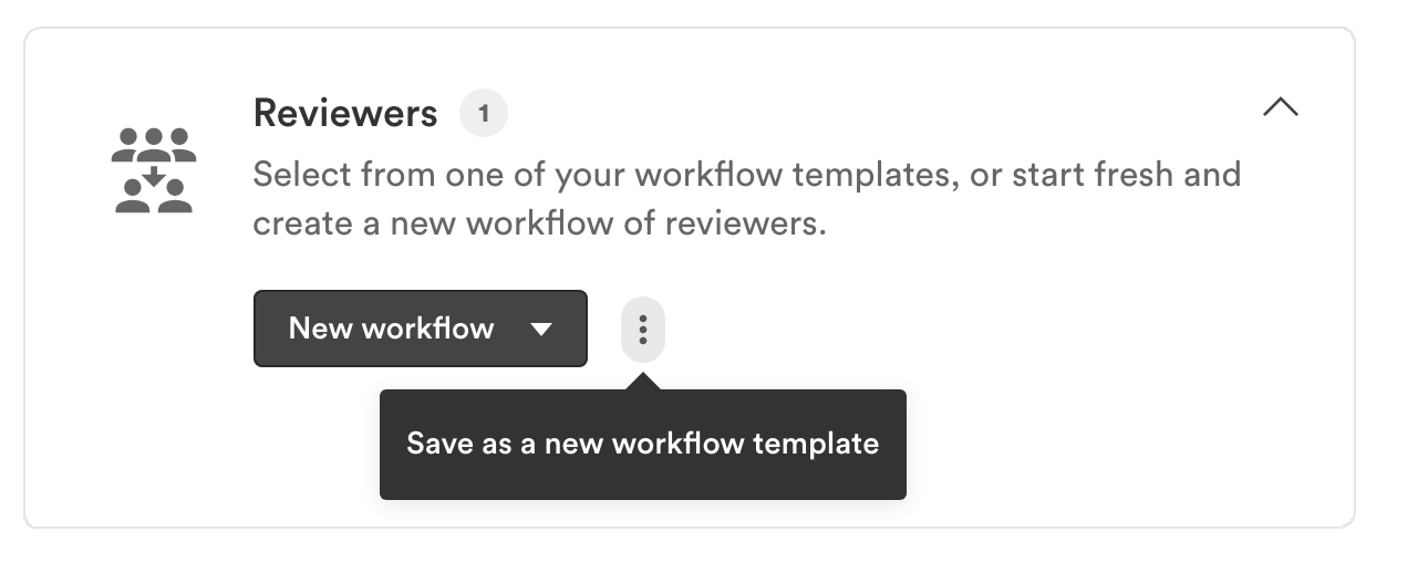 Three dot icon showing save as a new workflow template option