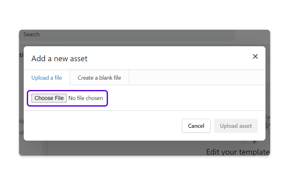 Click on Choose File and select your SVG file to upload.