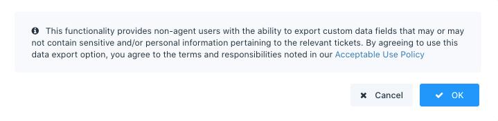 enable custom attribute export prompt