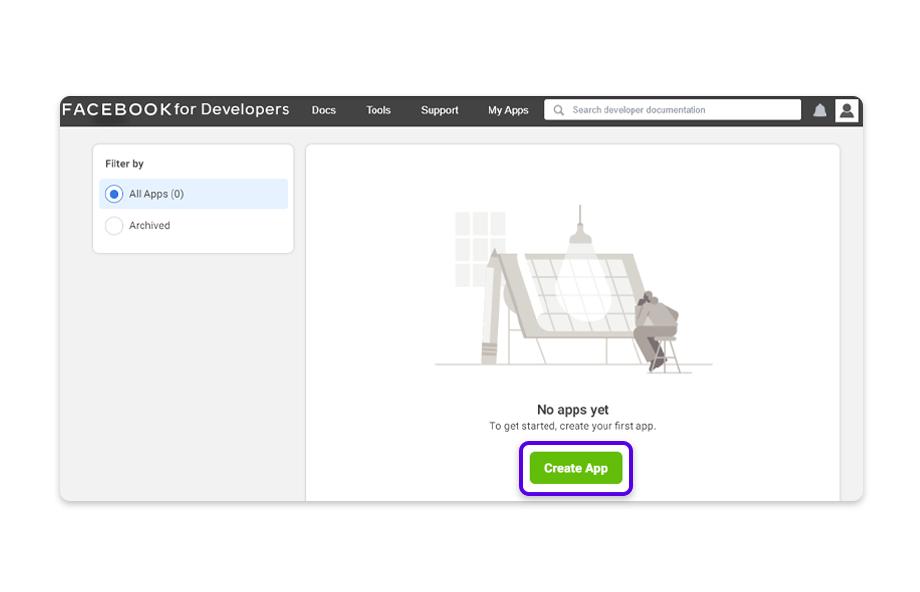 Click on Create App.