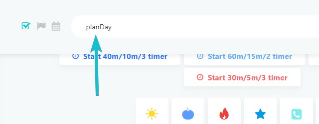 Restoring the day planning button