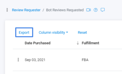 Export- Review Requests