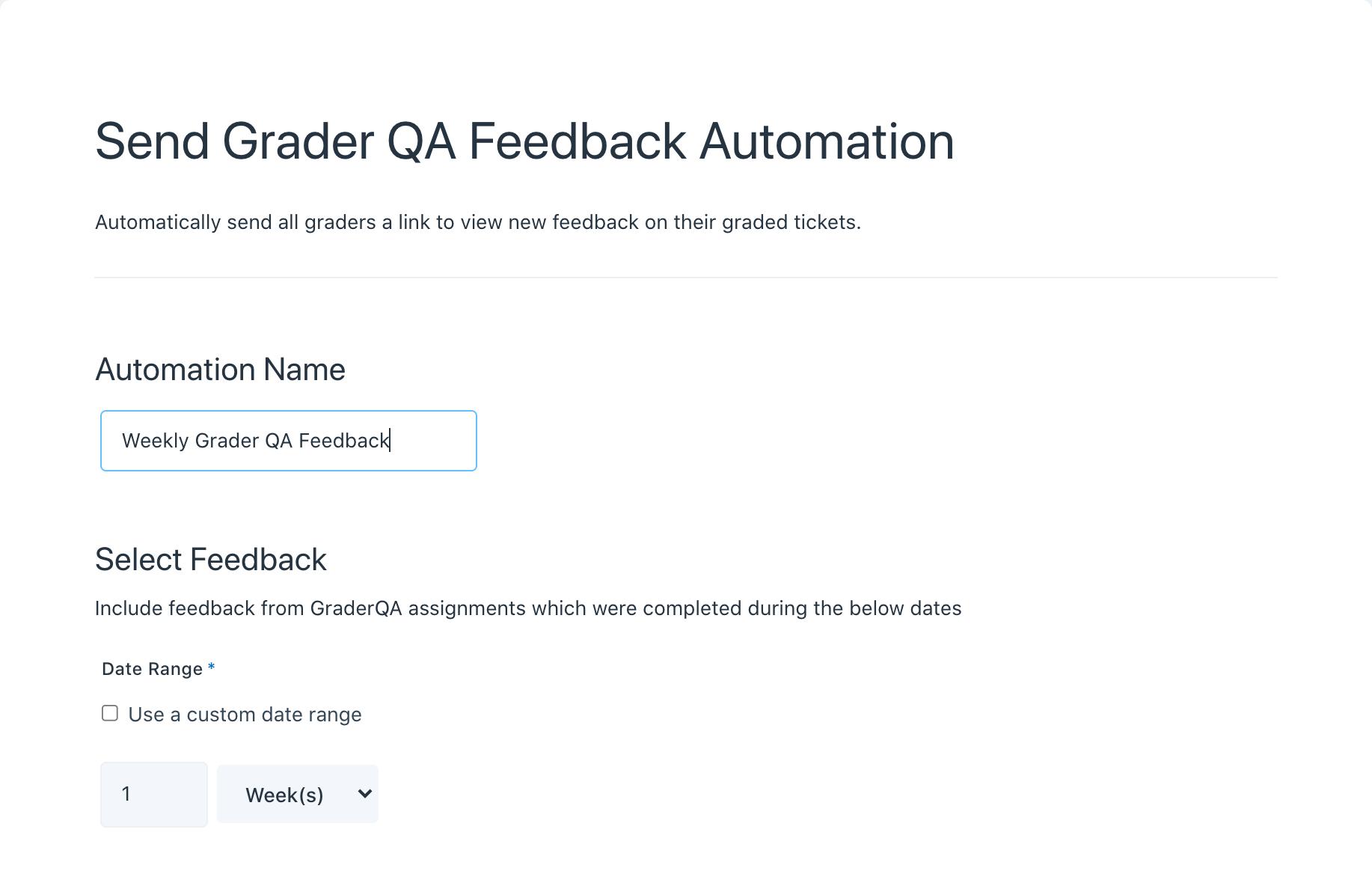 Send Grader QA Feedback Automation