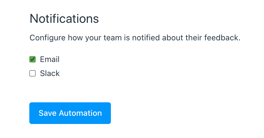 automation notifications