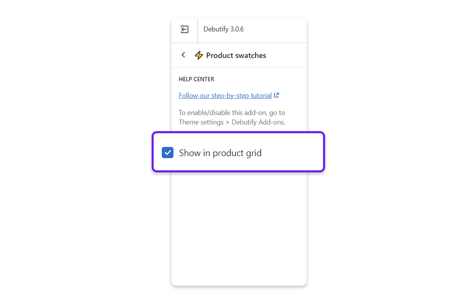Tick the box if you want to show the Product swatches in the product grid.