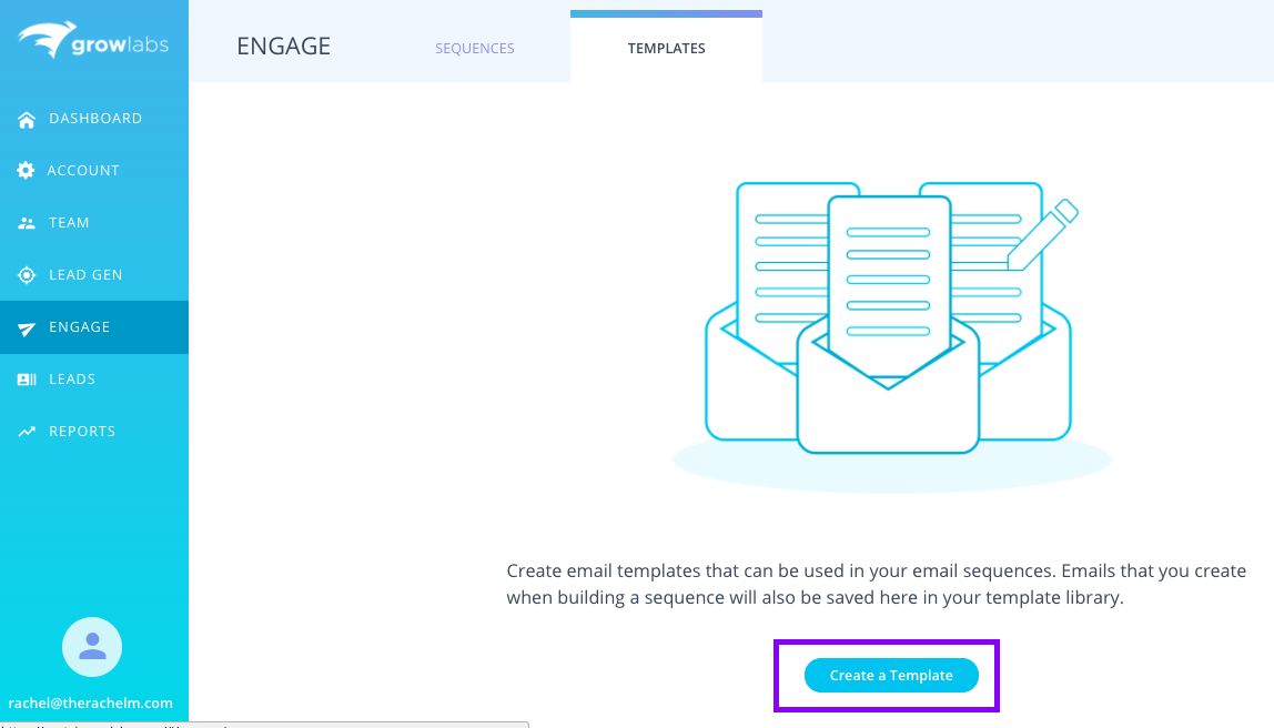 How To Create An Email Template Growlabs Help Center - Create email from template