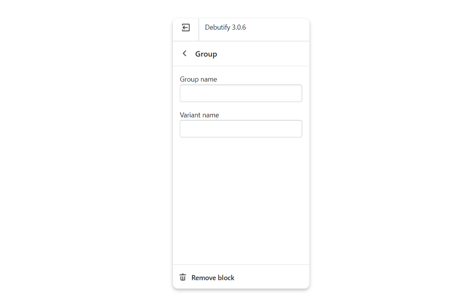 Click on Group to add Product swatches to a group of products.