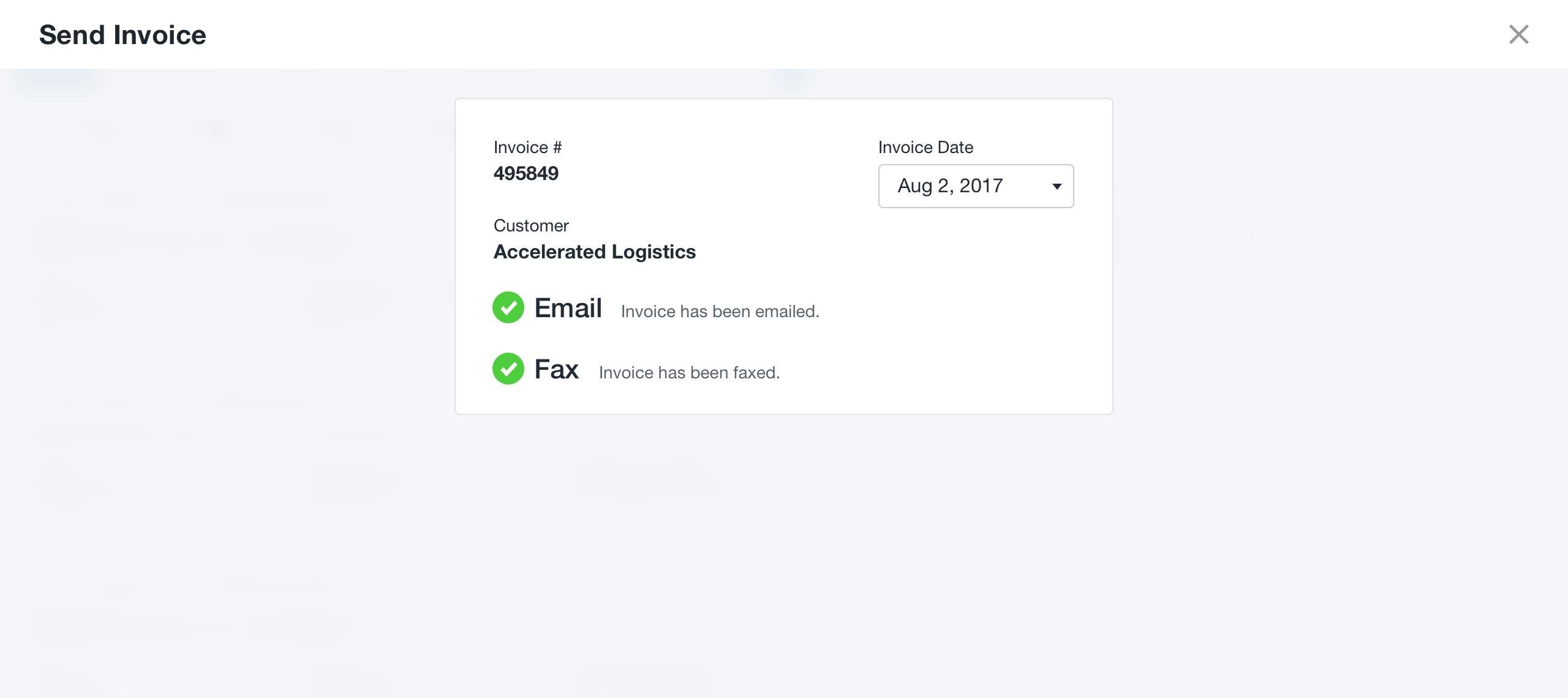 Send Invoice From The Dashboard To EmailFax Super Dispatch Help - Email invoice to customer
