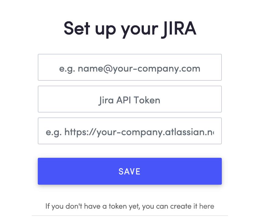 JIRA configuration on Apptim Desktop