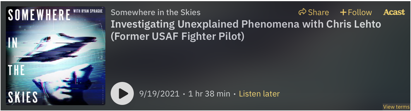 acast embed player, somewhere in the skies podcast