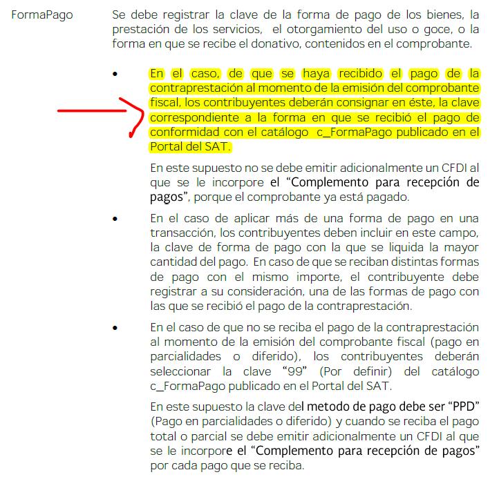 forma y método de pago cfdi 3 3 centro de ayuda gestionix