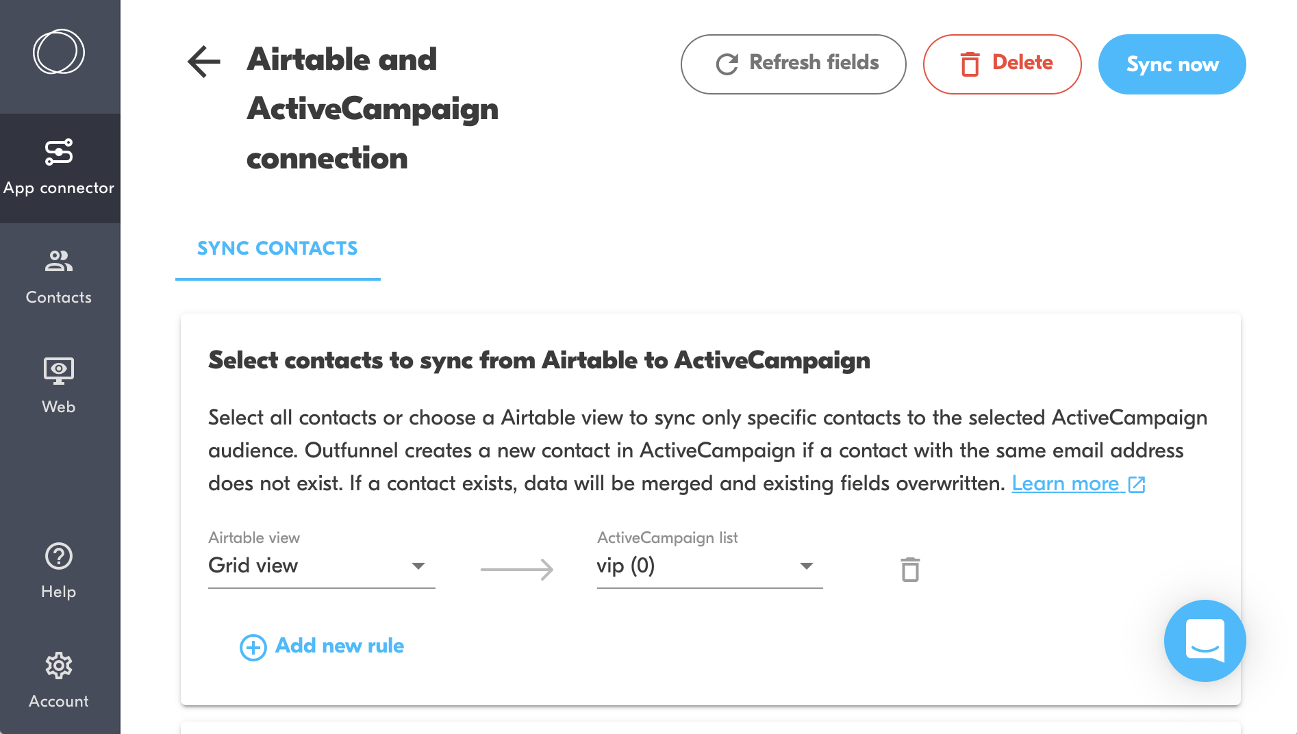 airtable and activecampaign contact sync