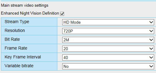 Recommended streaming setting, solution for \