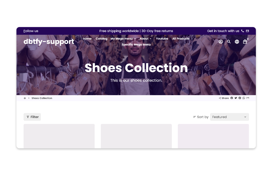The image is the banner or header section on the collections page.