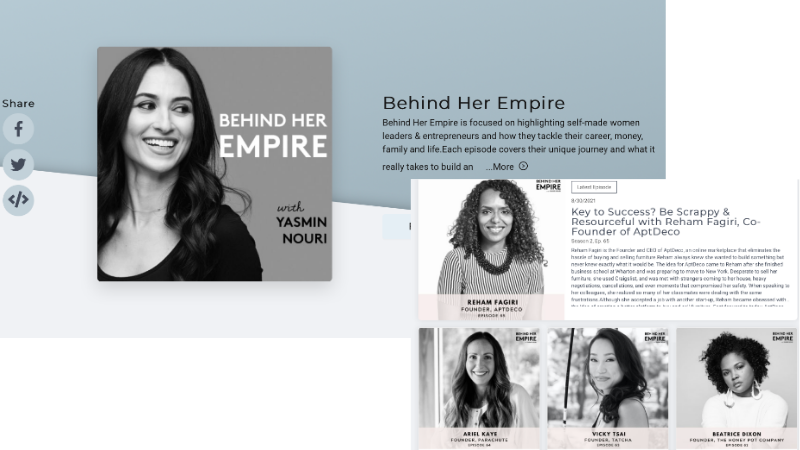 behind her empire podcast website with acast