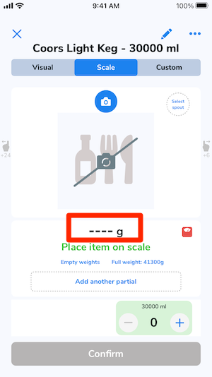 The blank area beneath the item image is highlighted indicating it can be tapped.
