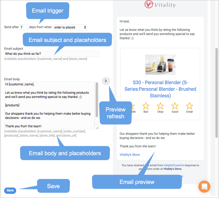 personalise review request email templates helpful guides